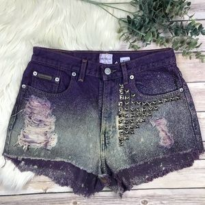 Vintage Calvin Klein High Waist Distressed Cutoffs